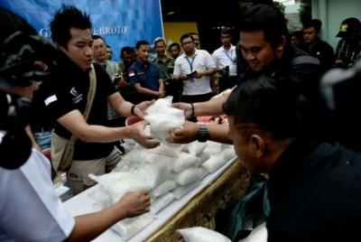 Indonesia tịch thu gần 6 tấn ma tuý đá