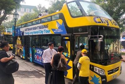 Chính thức đưa vào khai thác xe bus 2 tầng Vietnam Sightseeing và tuyến xe Thăng Long - Hà Nội City Tour