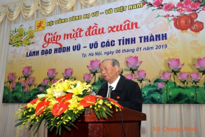 Gặp mặt đầu Xuân 2019 lãnh đạo Hội đồng Dòng họ Vũ - Võ các tỉnh, thành