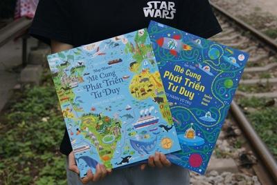 Cùng bé du lịch 'tại gia' qua bộ sách Mê cung khám phá thế giới và du hành vũ trụ