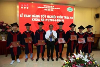 Trường Đại học Kinh doanh và Công nghệ Hà Nội trao Bằng tốt nghiệp cho sinh viên Khoa Kiến trúc khóa 19