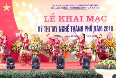 Hơn 360 thí sinh đua tài ở Kỳ thi tay nghề thành phố Hà Nội năm 2019