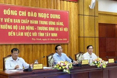 Bộ trưởng Đào Ngọc Dung thăm và làm việc với tỉnh Tây Ninh