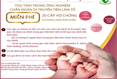 Trung tâm sàng lọc, chuẩn đoán trước sinh và sơ sinh - Bệnh viện Phụ sản Hà Nội