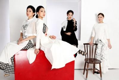 NTK Cao Minh Tiến ra mắt bộ sưu tập áo dài lấy cảm hứng từ dân ca quan họ